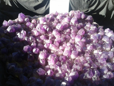 Rather large Amethyst at a Tucson Gem Show, over 5 feet across.
