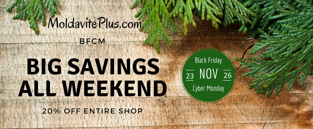 Shop Moldavite Plus for Black Friday through Cyber Monday!