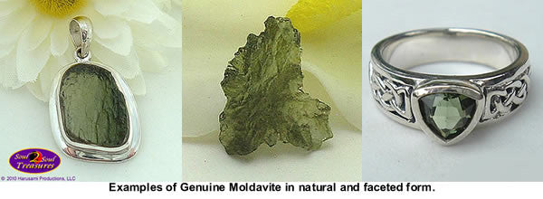 Examples of Real Moldavite from Soul2Soul Treasures