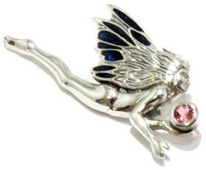Faceted Pink Tourmaline Faery Pendant Sterling Silver