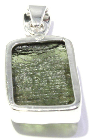 Load image into Gallery viewer, Natural Moldavite Tektite Sterling Silver Pendant