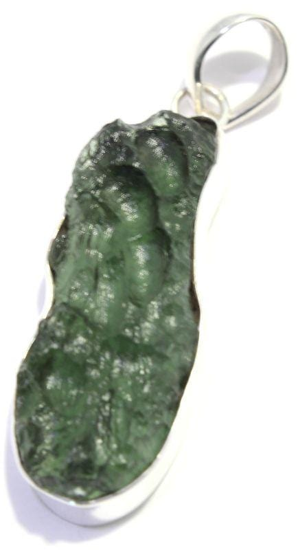 Load image into Gallery viewer, Moldavite Czech Tektite Sterling Silver Pendant