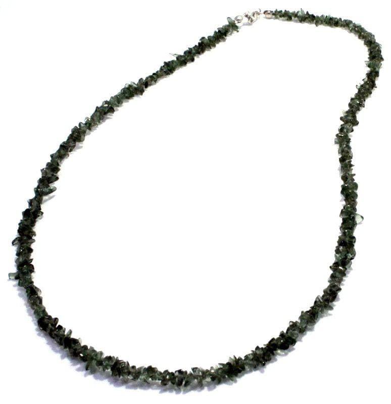 Natural Tumbled Moldavite Green Tektite Necklace