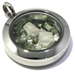 Moldavite Phenacite Floating Locket