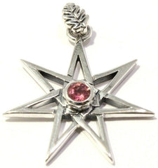 Faceted Pink Tourmaline Elven Star Pendant
