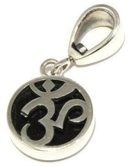 Polished Indochinite Sterling Silver Om Pendant