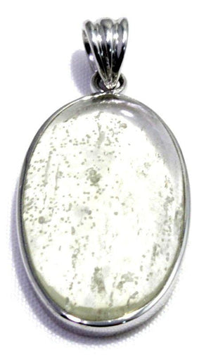 Polished Libyan Desert Glass Silver Pendant