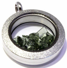 Moldavite Sparkly Floating Locket