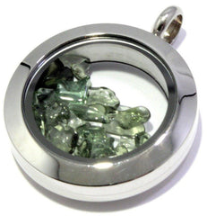 Tumbled Moldavite Floating Locket