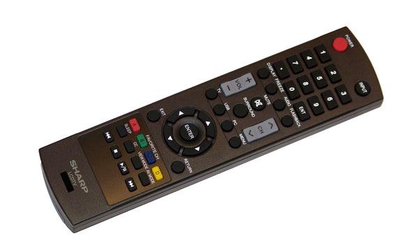 OEM Sharp Remote Control Originally Supplied With: LC26SV490U, LC-26SV490U, LC32D59, LC-32D59, LC32D59U, LC-32D59U