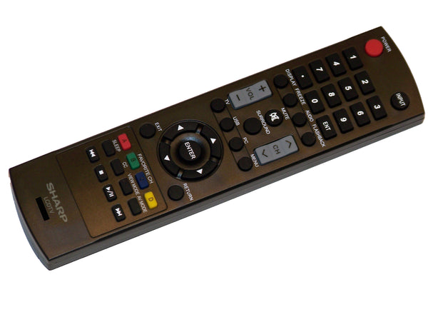 OEM Sharp Remote Control Originally Supplied With: LC32SV29U, LC-32SV29U, LC42A49L, LC-42A49L, LC42D69U, LC-42D69U