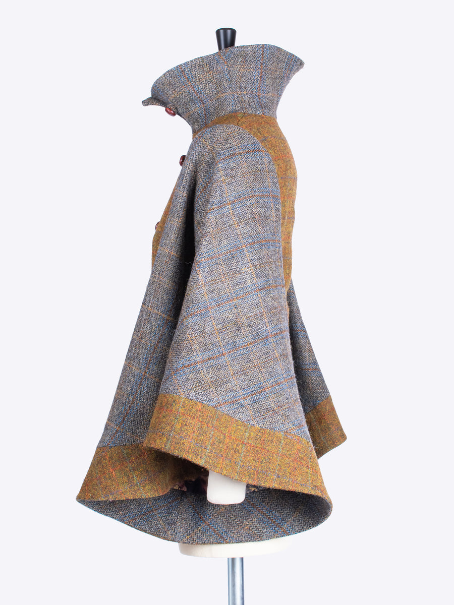 tweed with a twist - Edwardian style ladies fitted wool jacket
