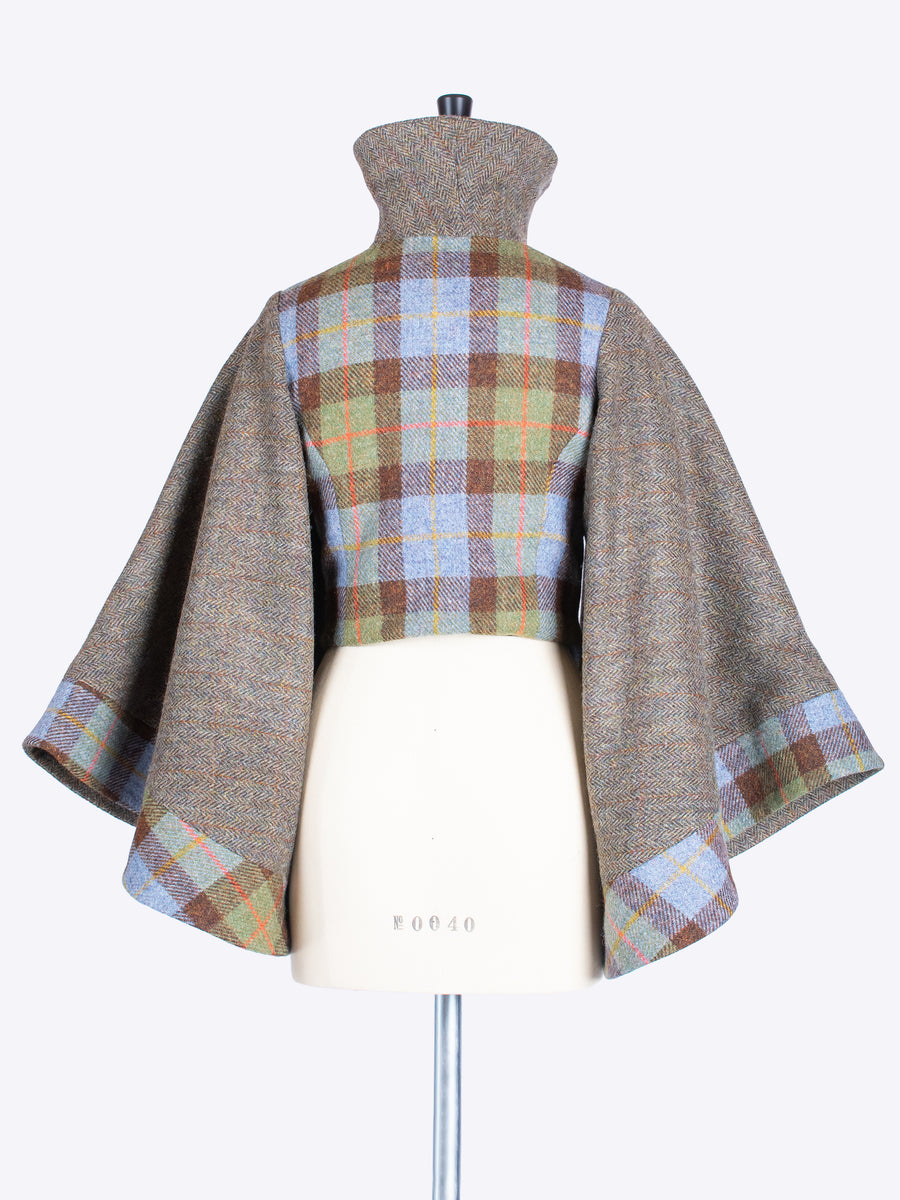 made in New Forest ladies Harris Tweed bell sleeve jacket