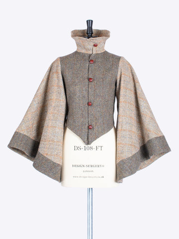 ladies tailoring - moss green and beige luxury Harris Tweed jacket