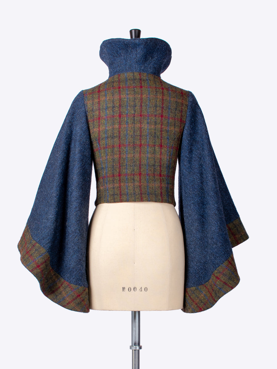 slow fashion - country style handwoven Harris Tweed luxury jacket