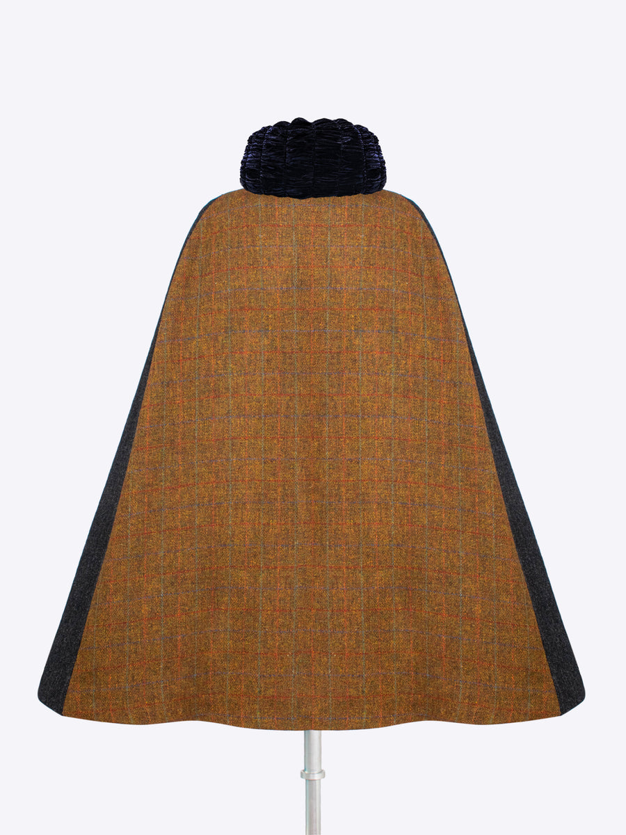 Slow fashion - made in England tweed cape