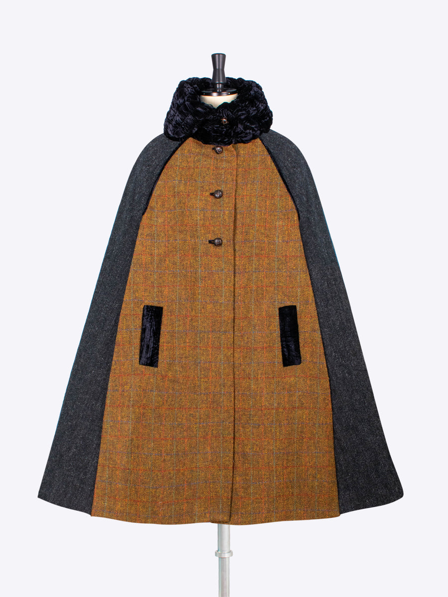 independent fashion label - British wool long cape