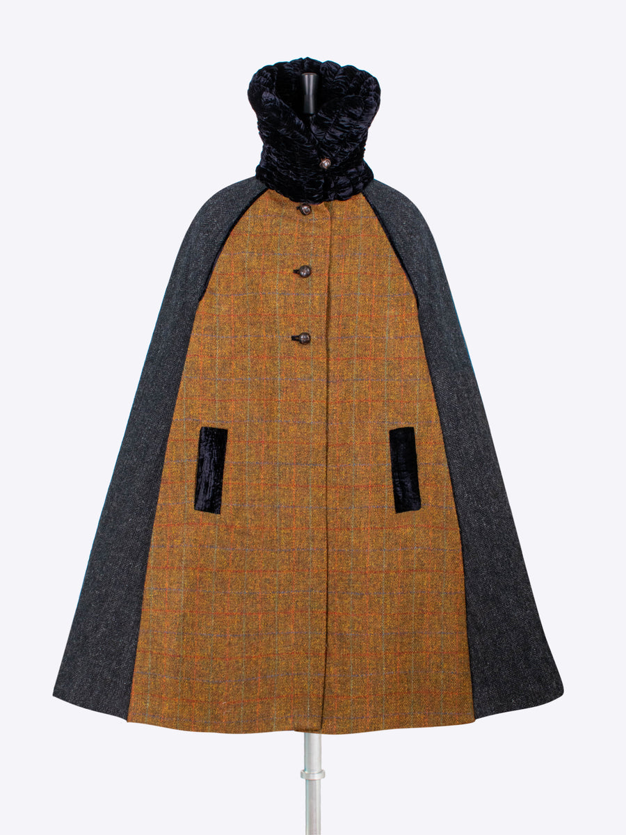 British fashion label - country style handwoven wool cape