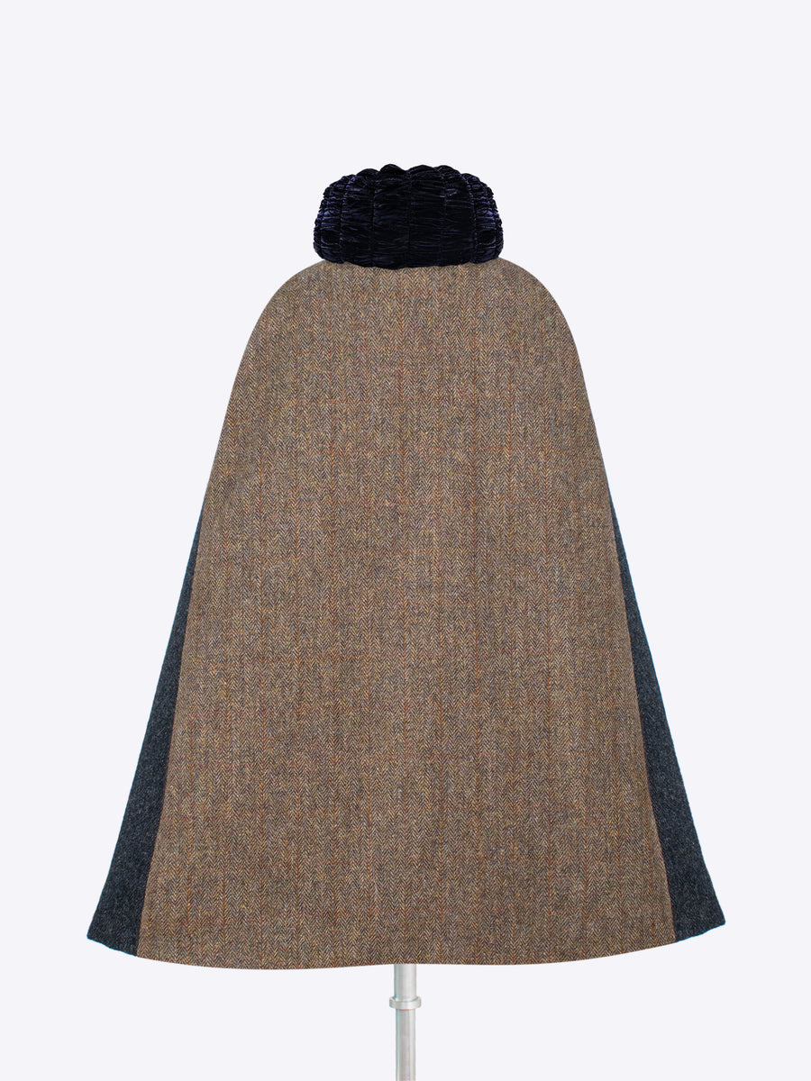 independent fashion label - gray wool cape