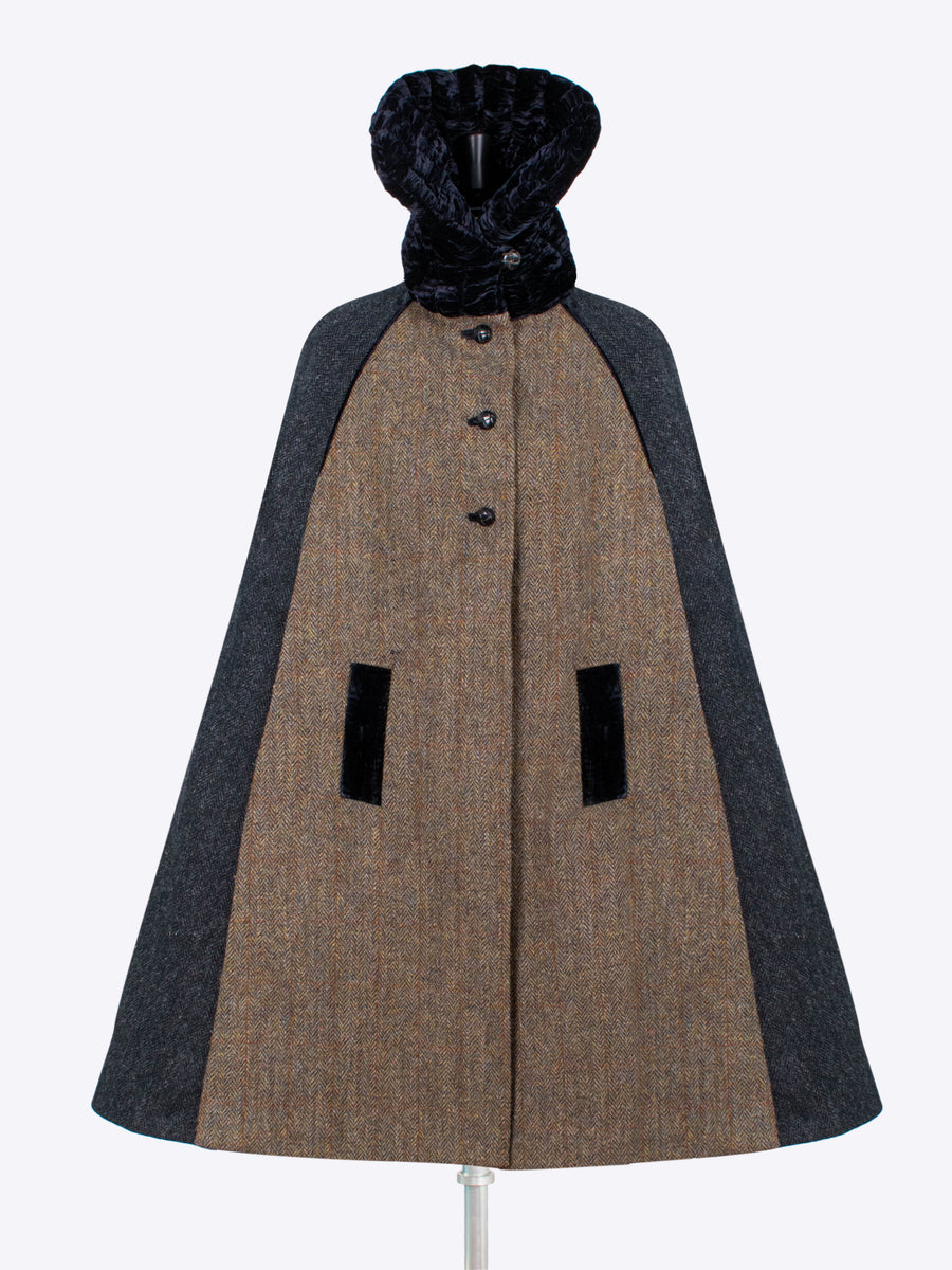 Sustainable luxury - heritage style wool cape