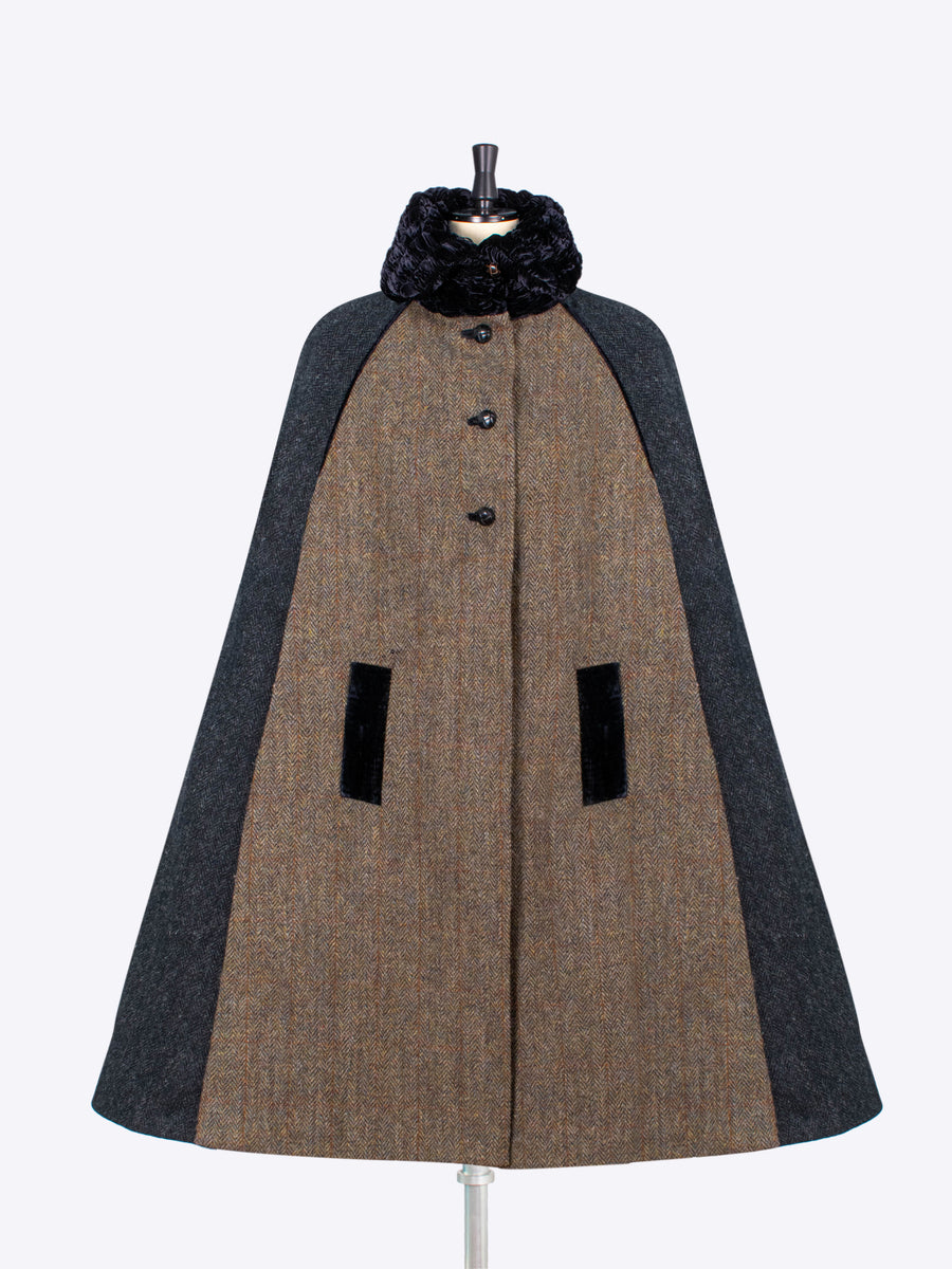 ladies tailoring - harris tweed long cape