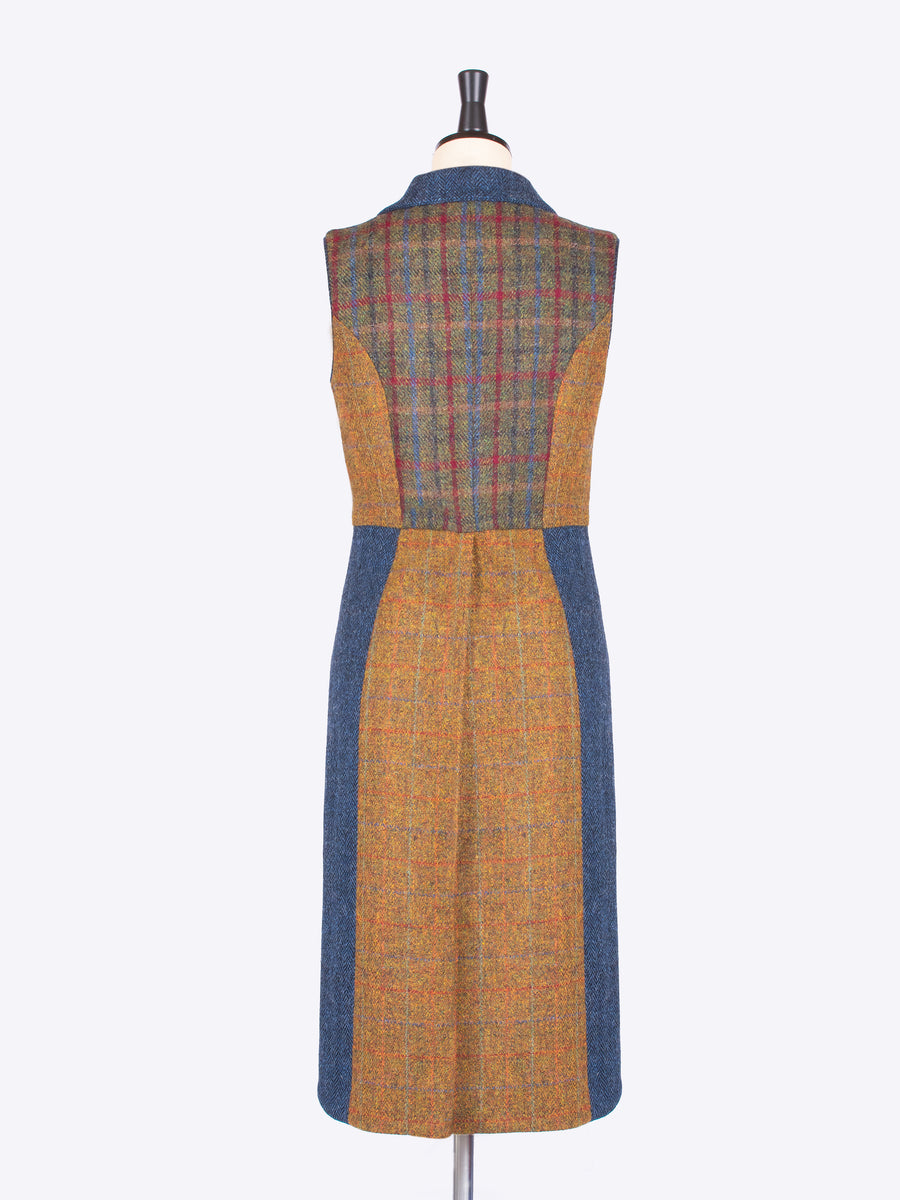 British fashion label - country style tweed waistcoat