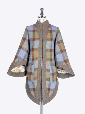 heritage fashion - MacLeod and moss green vintage style Harris Tweed jacket