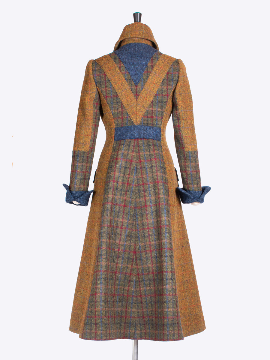 country style ladies Harris Tweed long coat