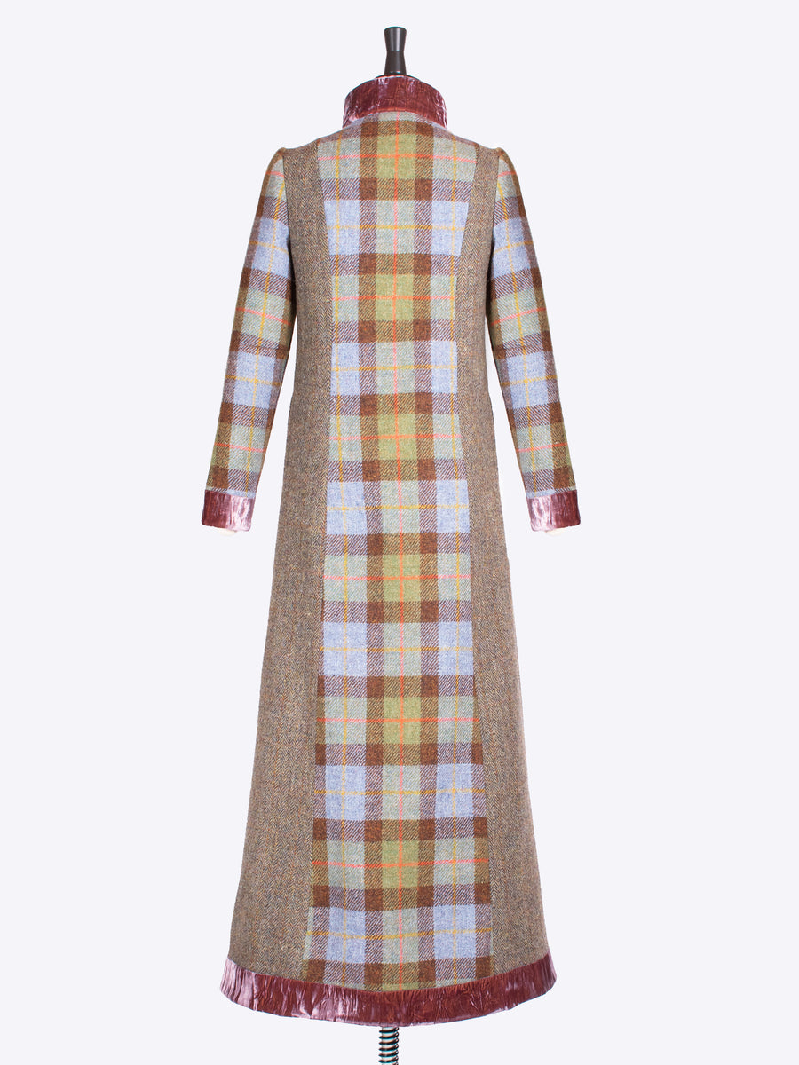 independent fashion label - long vintage tailored tweed coat
