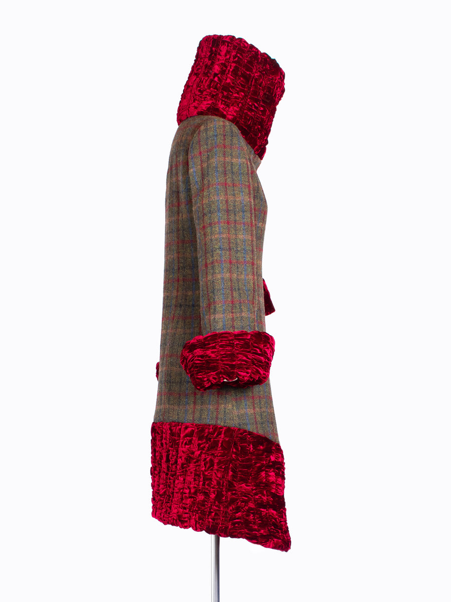 slow fashion Harris Tweed winter coat