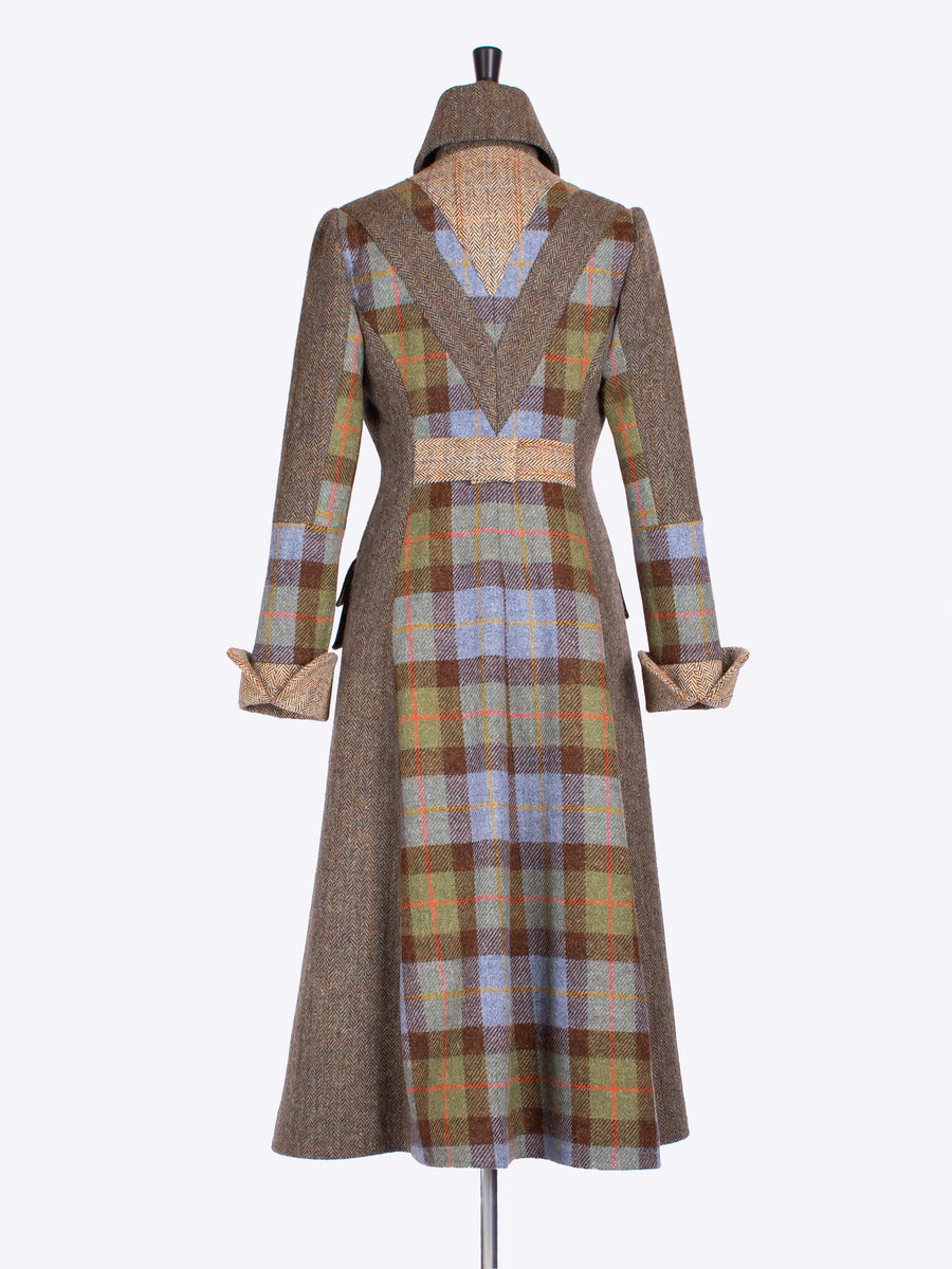 tweed with a twist - long ladies shooting coat