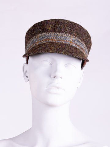 sustainable fashion - chocolate and sage town and country cap