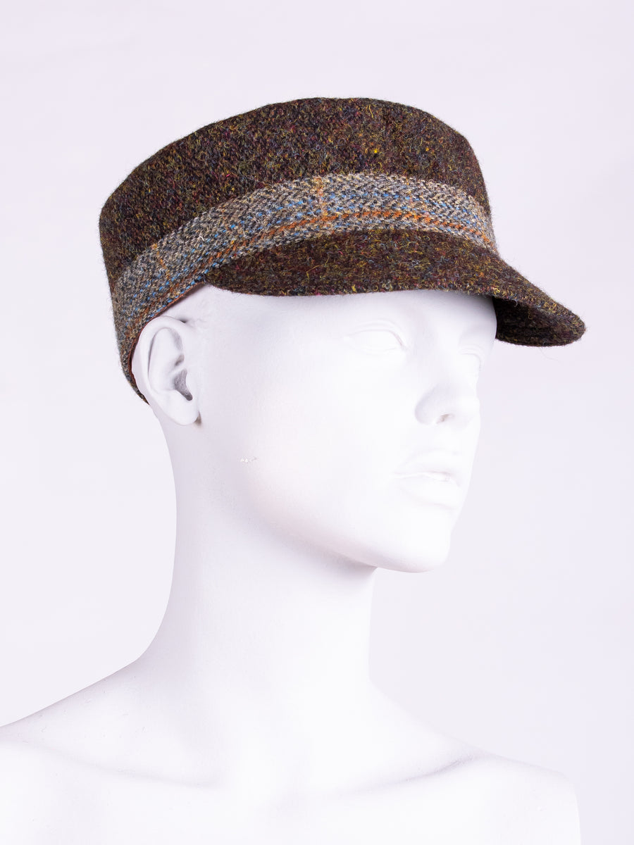 Town and Country Cap. Chocolate & Sage