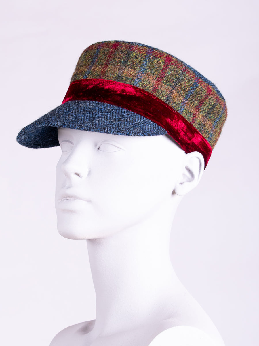 Sustainable luxury - mans tweed cap