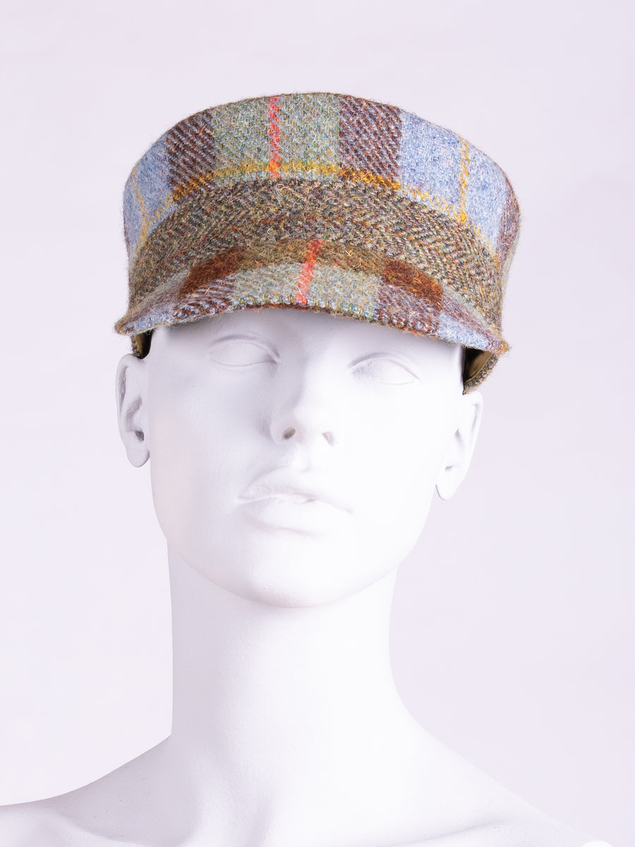 independent fashion label - MacLeod and moss green tweed cap