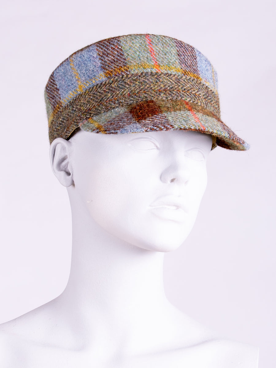 British fashion label - country style Harris Tweed cap