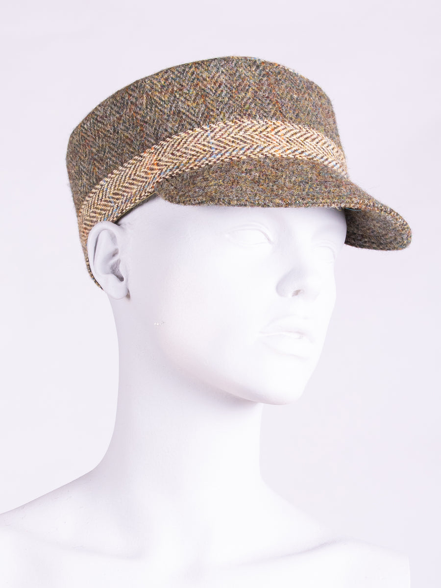 Town and Country Cap. Moss Green & Beige