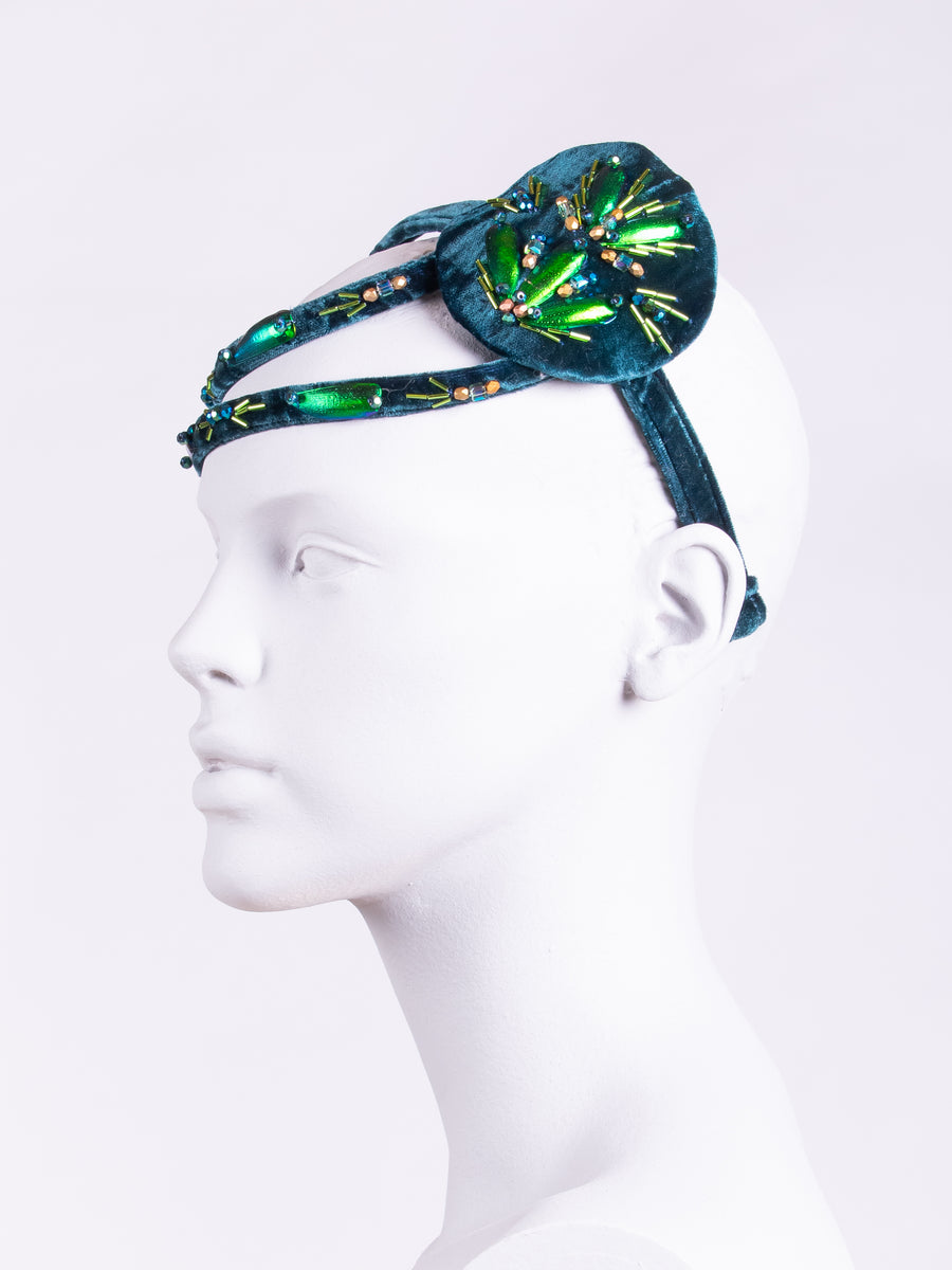 sustainable headwear - 20s style headpiece - wedding headband