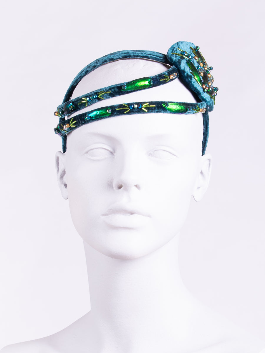 made in England headwear - Gatsby headpiece - beaded hair accessory