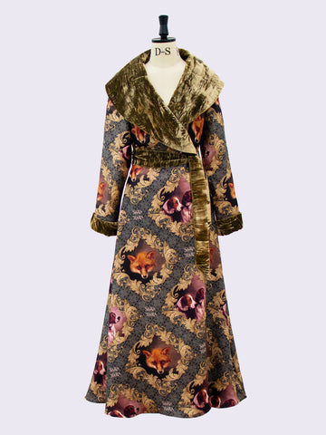 Independent fashion label - Printed silk luxury housecoat