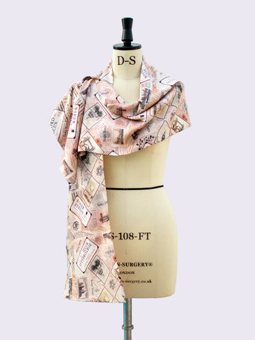 British fashion label - luxurious gift - silk scarf