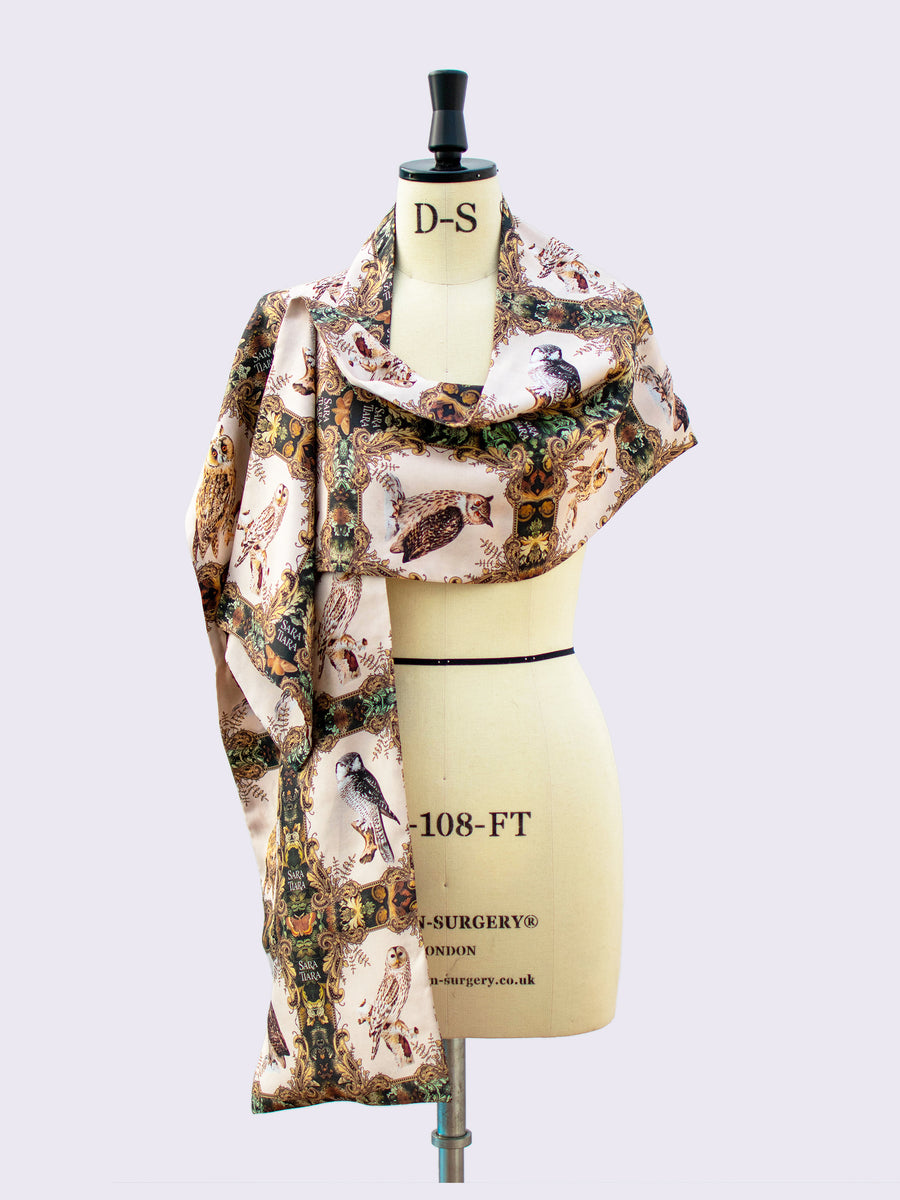 British fashion label - luxurious silk scarf