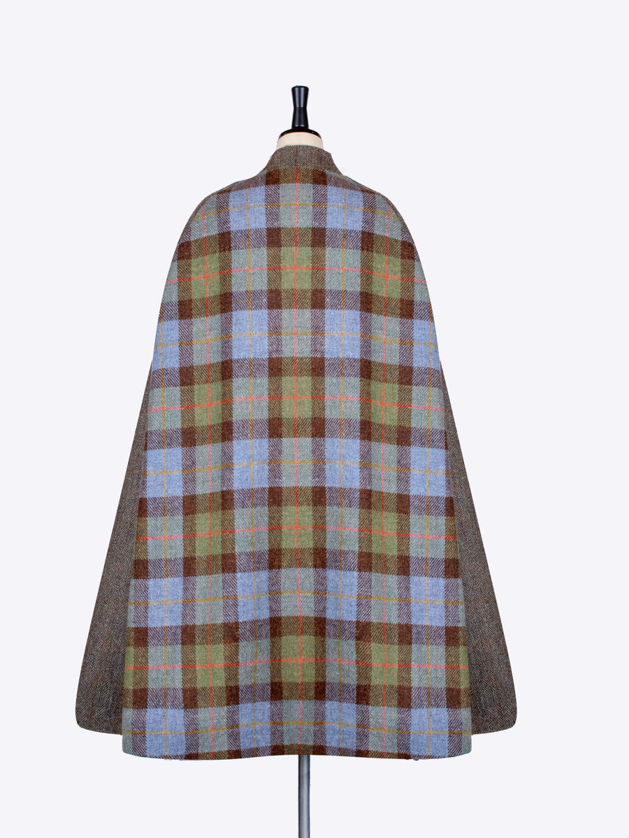 Mcleod and green moss Harris Tweed sustainably made cape