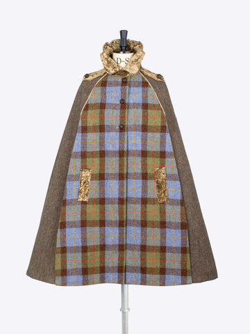 independent fashion label - British wool cape