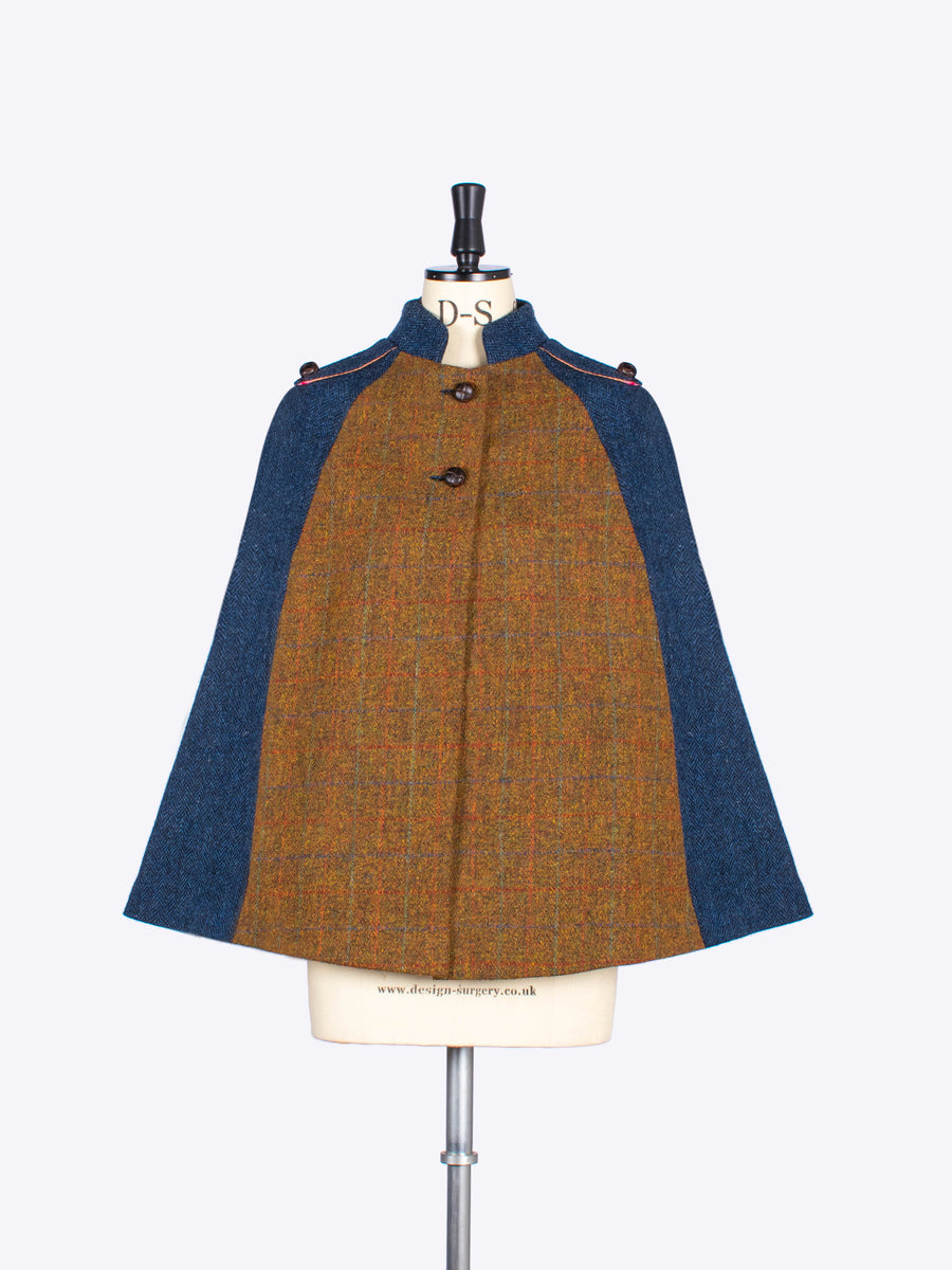 brown wool cape - ladies tayloring