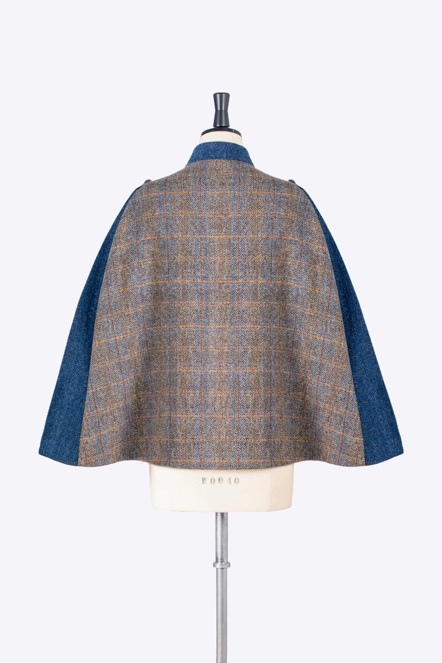 grey tweed cape - heritage fashion