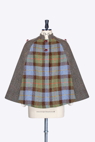 McLeod and moss green made in England Harris Tweed cape
