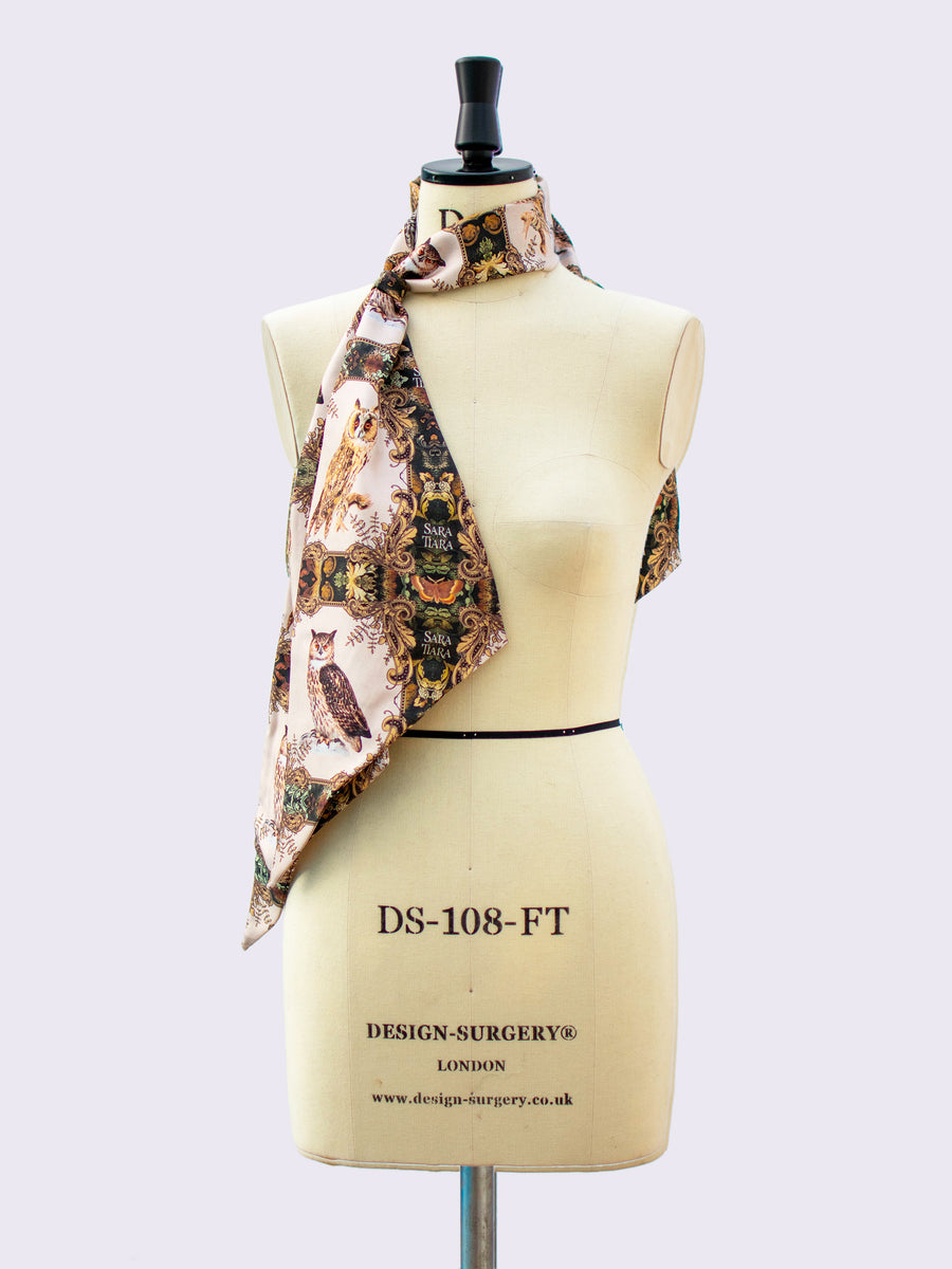 luxurious accessory - printed silk scarf