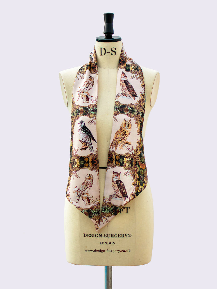 one of a kind gift - printed silk scarf