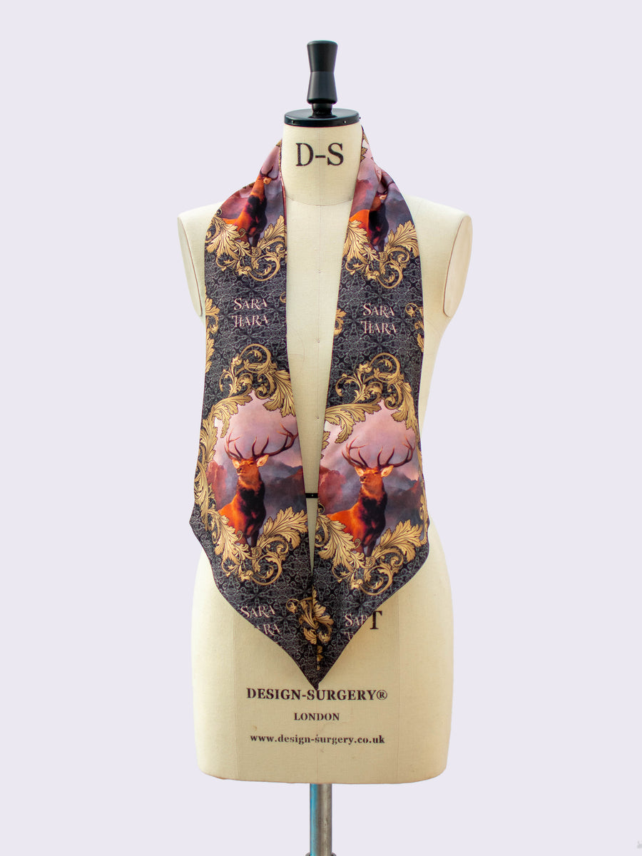 Made in England - printed silk scarf